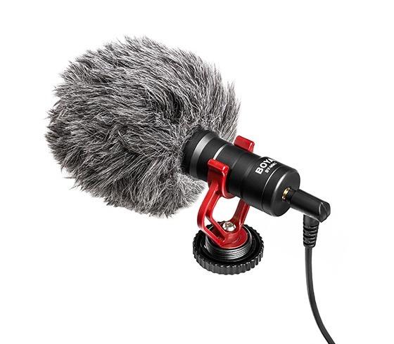 Microfone Direcional Boya By-mm1 P/ Camera E Celular Shotgun