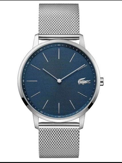 Relógio Lacoste Masculino Prata Original Fino Com Nf 2011005