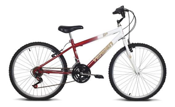 Bicicleta Aro 24 - Live - Vermelho E Branco - Verden Bikes