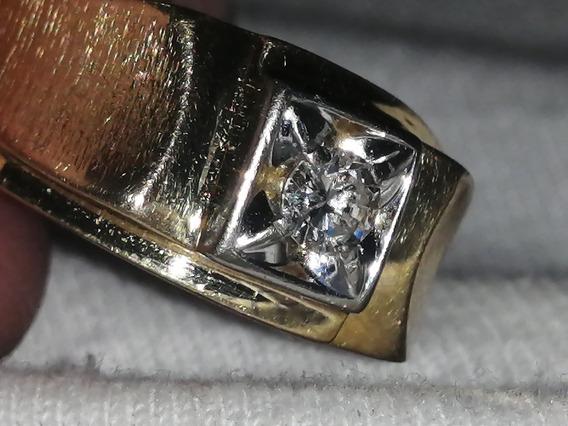 3 Anillos De Oro De 14k Uno Con Diamante De 1k