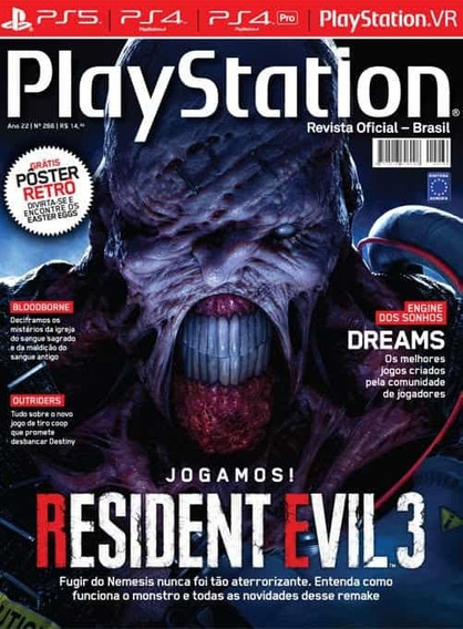 Revista Playstation Jogamos! Resident Evil 3 N° 266