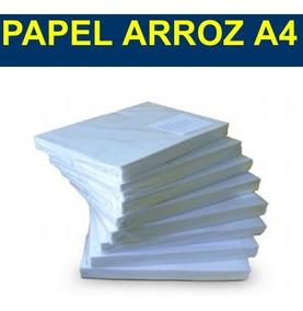 Papel De Arroz Em Branco A4 100 Folhas 100% Qualidade