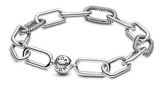 Bracelete Link Em Prata De Lei