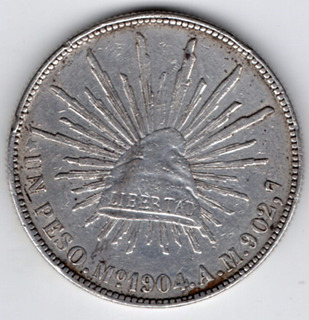 Moneda República Mexicana Un Pesos 1904 Pa2