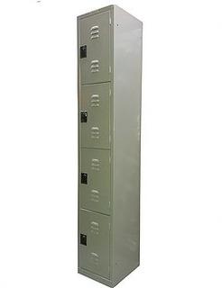 Locker Metalico 4 Puertas, Aldaba Para Candado, Celosia De
