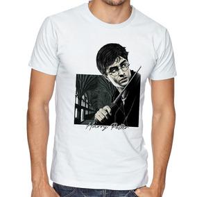 Camiseta Blusa Harry Potter Varinha Bruxo Magico Filme