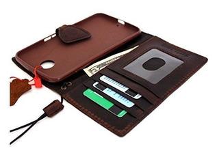 Funda Funda De Cuero Genuina Vintage Para Motorola Nexus 6