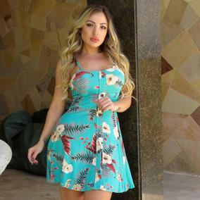 Vestido Florido Estampado Curto Com Bojo Feminino + Brinde70