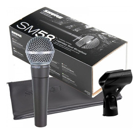 Microfone Profissional Dinâmico Sm58-lc