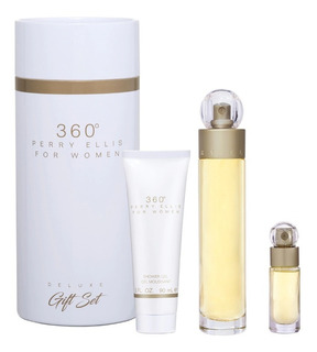 Set Mujer Perry Ellis 360 Original 3 Piezas Body + Shower