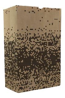 Saco Embalagem Kraft Grande P/ Delivery Hambúrguer 150und