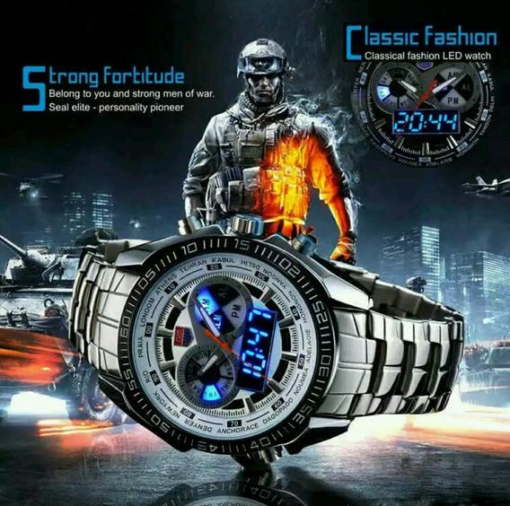 Promoção Relógio Esportivo Tvg Led Original Prata Digital