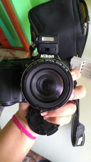 Câmera Semiprofissional Nikon L320 + Kit Completo