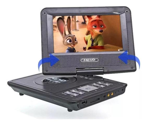 Dvd Portatil Tv Digital 9.8 Usb Mp3 Bolsa Infantil Carro