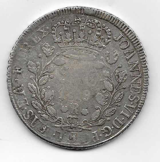 960 Réis 1819 R S/ 1 Peso Chile Independente 1919