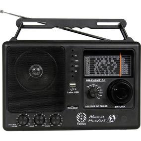 Rádio Portátil Motobras Rm-pusm81ac - Fm/om, 8 Faixas, Usb