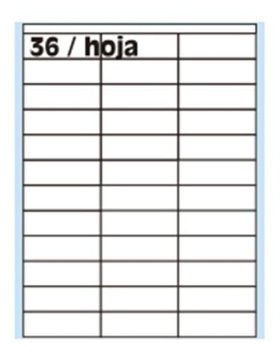 Etiquetas Oritec A4 4124 X100 36 X Hoja 70x23,4mm Autoadhes