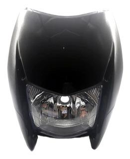 Farol Completo Com Carenagem Preta Motos Nxr150 Bros 2009 A 2011 / Nxr 125 Bros 2013 Marca Foco