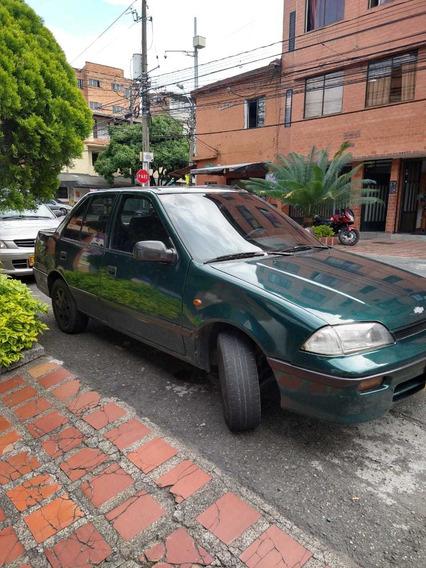 Chevrolet Swift Color Verde, Modelo 1999, Cuatro Puertas.