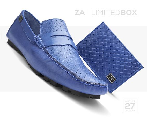 Mocassim Masculino Kit Sapato Carteira Couro Limited Edition