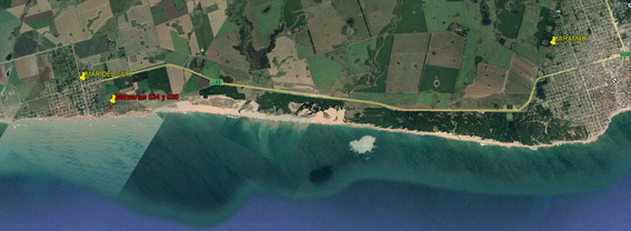 Costa Atlantica Mar Del Sur Con Escritura A Metros Del Mar