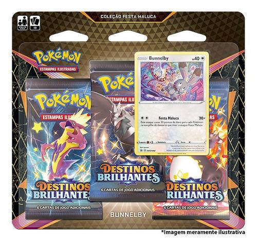 Imagem 1 de 2 de Card Game Pokémon Blister Destinos Brilhantes Bunnelby