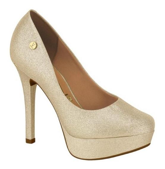 Sapato Peep Toe Feminino Vizzano - Noiva Branco.