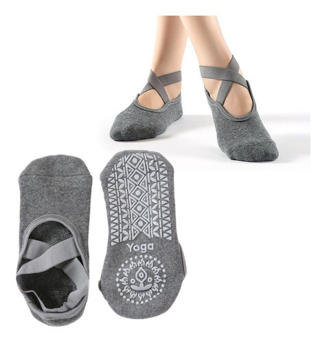 Imagen 1 de 3 de Calcetines Antideslizantes Yoga Modelo Cruz