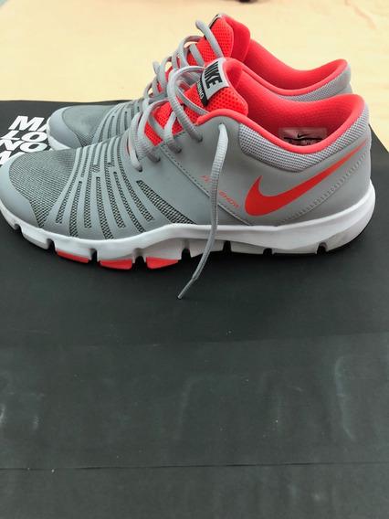 Tenis Nike Cinza E Laranja