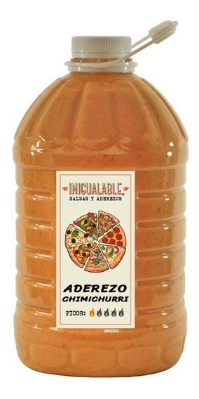 Inigualable Aderezo Pizza Cremoso Chimichurri Garrafa 3.78 L