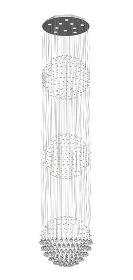 Lustre De Cristal Para Pé Direito Duplo E Escada, Hoteis