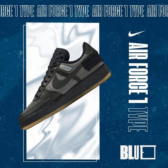 Nike Air Force 1 Type Black Gum