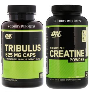 Tribulus Terrestris, 100 Caps + Creatina 300g Combo Optimum.