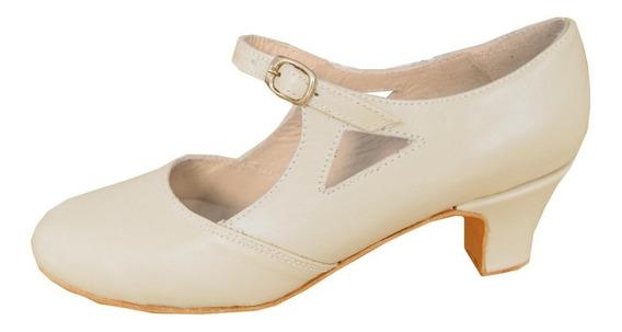 Zapato De Folklore Piel - Español - Jazz - Danza - Cuero