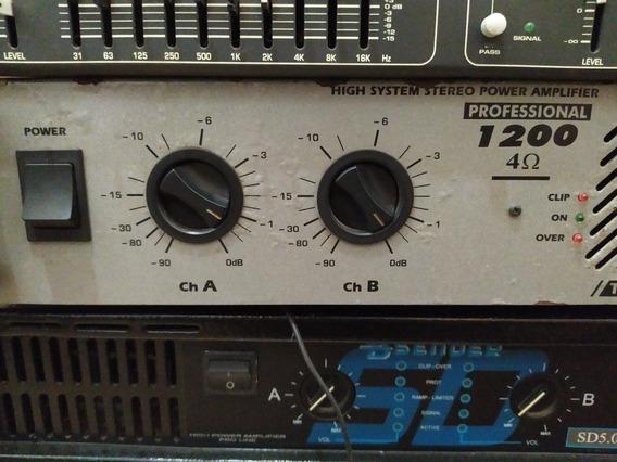 Amplificador Potência Ll1200 4ohns