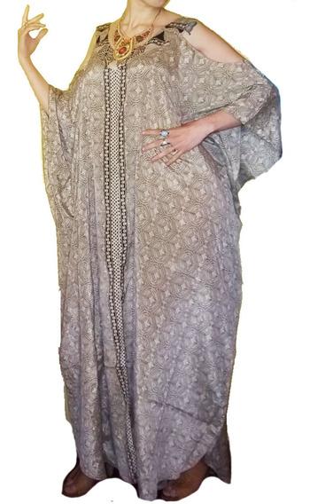 Vestido Hindú Seda Talles Especiales India Xxxl Sin Hombro