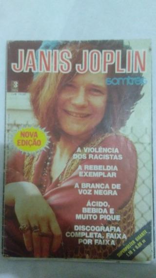 Antiga Revista Poster Janis Joplin Somtres Raro Frete Grátis