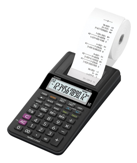Calculadora De Mesa 12 Dígitos Bobina Casio Hr-8rc