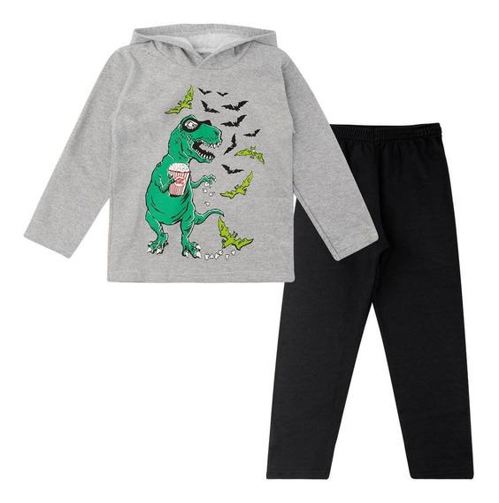 Conjunto Infantil Moletom Pijama Masc E Fem Tam 4-8 Kit 3 Un
