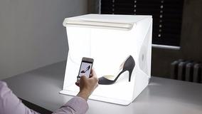 Mini Estúdio Portátil Com Iluminação Em Led