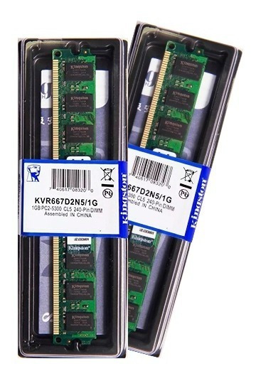 Memória Kingston Ddr2 1gb 667 Mhz Desktop 16 Chips 1.8v