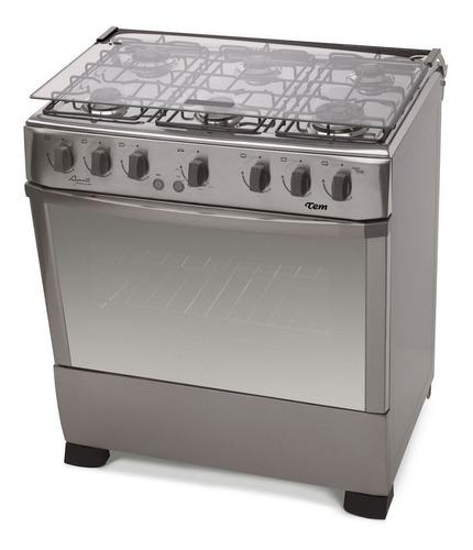Cocinas Gas 6 Hornallas Tem Avanti Inox Gran Horno Enc