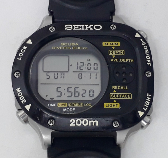 Seiko Scuba M726-5a00 Professional Diver 200m Digital 1980s