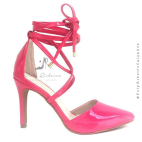 9f4b6b14c9 Scarpin Rosa Pink Veludo - Sapatos no Mercado Livre Brasil