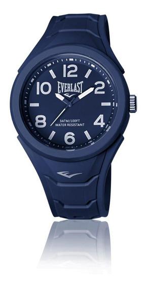 Relógio Pulso Everlast Unissex Esporte Silicone Azul E703
