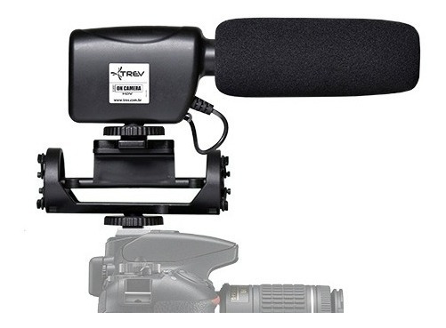 Microfone Direcional Shotgun Steady Para Canon Eos Rebel T7i