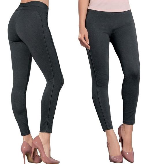 Leggings Ajustado Dama Mujer Moda Casual/formal Gris Comodo
