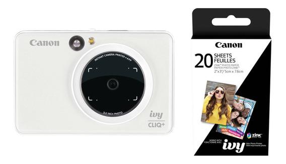 Câmera Instantanea Canon Ivy Cliq+ Com Filme 20 Poses Nfe