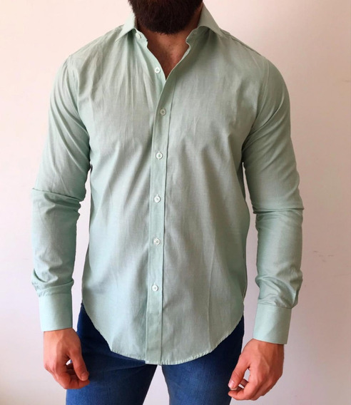 Camisa Hombre Manga Larga Hasta Xxxl H0707
