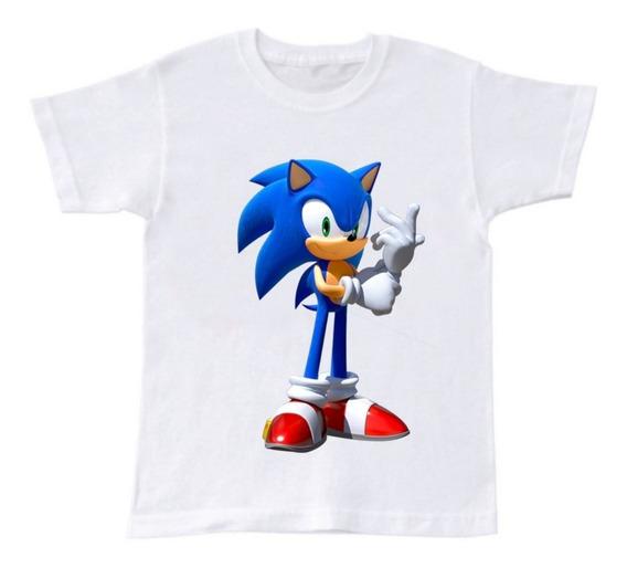 Playera Manga Corta Película Sonic Niño 2 A 16 Años Moda
